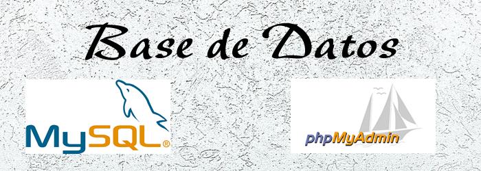 base de datos mysql-phpmyadmin